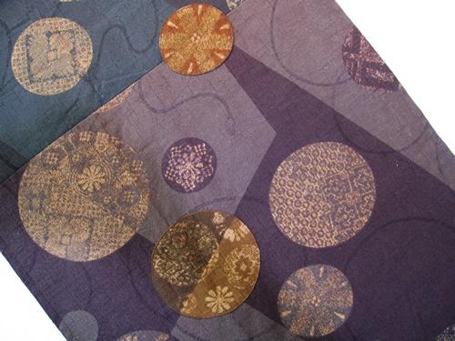 和柄タペストリー 紫とグリーン<オリジナル古雅>